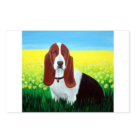 Basset Hound Dog Art Postcards (Package of 8)