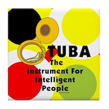 Tuba Genius Tile Coaster