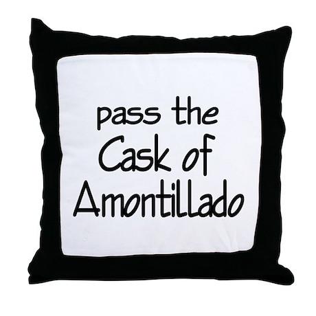 Amontillado Throw Pillow