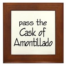 Amontillado Framed Tile