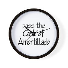 Amontillado Wall Clock