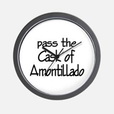 Amontillado Wall Clock