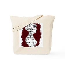 Jane Austen Quote/Rather Read Tote Bag