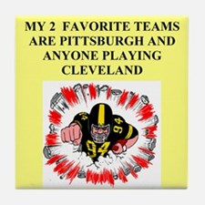 steeler gifts and t-shirts Tile Coaster