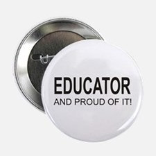 """The Proud Educator 2.25"""" Button (10 pack)"""