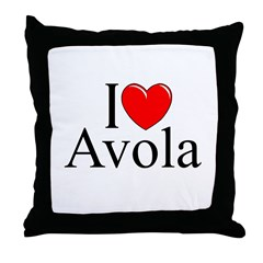 """I Love (Heart) Avola"" Throw Pillow"
