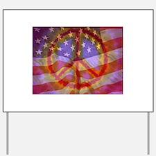 Cute Peace flag Yard Sign