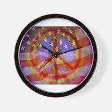 Cute Peace flag Wall Clock