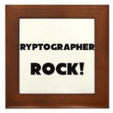 Cryptographers ROCK Framed Tile