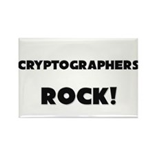 Cryptographers ROCK Rectangle Magnet