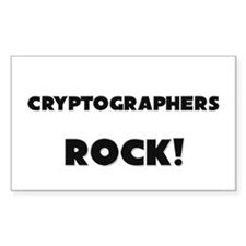 Cryptographers ROCK Rectangle Decal