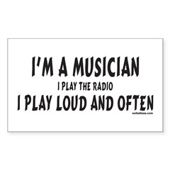 I'M A MUSICIAN Rectangle Decal
