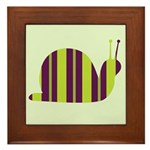 Slow Movin' Retro Snail Framed Tile