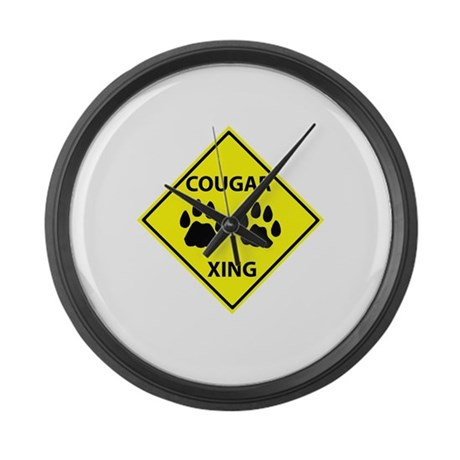 Cougar Mountain Lion Crossing Large Wall Clock