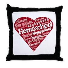 Homeschool Heart Throw Pillow
