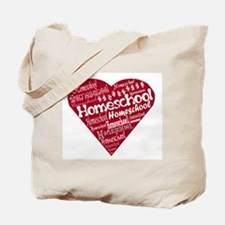 Homeschool Heart Tote Bag