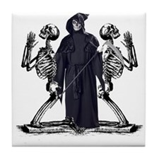Happy Halloween reaper and sk Tile Coaster