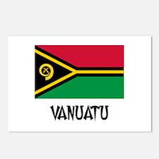 Vanuatu Flag Postcards (Package of 8)