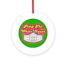 Pimp The White house Retro Ornament (Round)