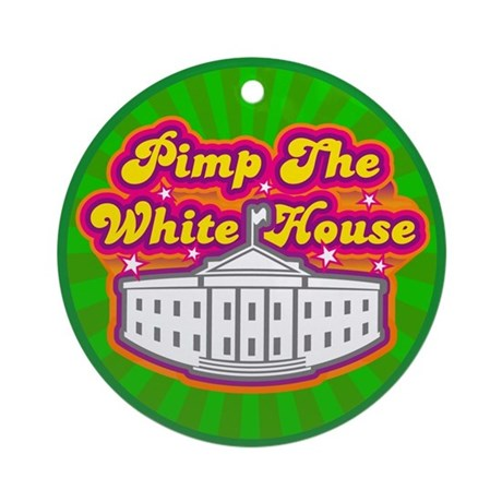 Pimp The White house Retro Ornament (Round)