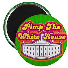 Pimp The White house Retro Magnet