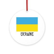 Ukraine Flag Ornament (Round)