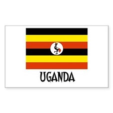 Uganda Flag Rectangle Decal