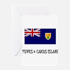 Turks & Caicos Island Flag Greeting Card