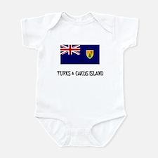 Turks & Caicos Island Flag Infant Bodysuit