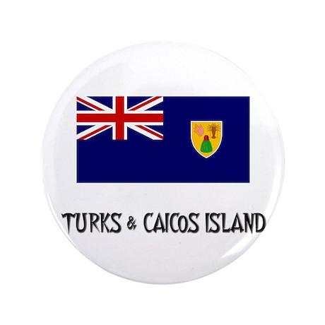 "Turks & Caicos Island Flag 3.5"" Button"