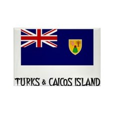 Turks & Caicos Island Flag Rectangle Magnet