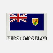 Turks & Caicos Island Flag Rectangle Magnet