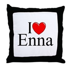 """I Love (Heart) Enna"" Throw Pillow"