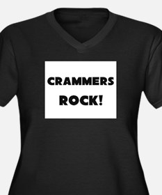 Crammers ROCK Women's Plus Size V-Neck Dark T-Shir