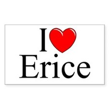 """I Love (Heart) Erice"" Rectangle Decal"