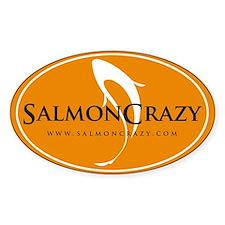 SalmonCrazy Logo Oval Decal