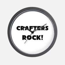 Crafters ROCK Wall Clock