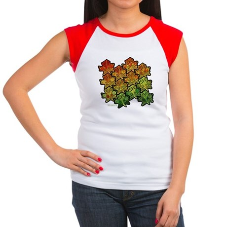 Celtic Leaf Transformation Women's Cap Sleeve T-Sh