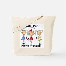 Kids for More Recess Tote Bag