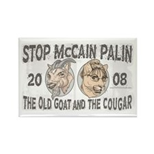 Old Goat McCain Cougar Palin Rectangle Magnet
