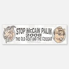 Old Goat McCain Cougar Palin Bumper Bumper Bumper Sticker