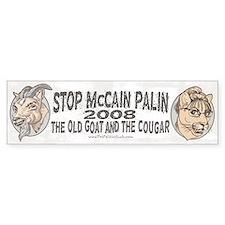 Old Goat McCain Cougar Palin Bumper Bumper Sticker
