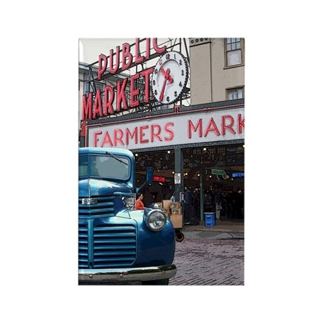 Pike Place Market Rectangle Magnet (10 pack)