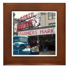 Pike Place Market Framed Tile