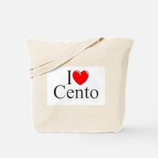 """I Love (Heart) Cento"" Tote Bag"