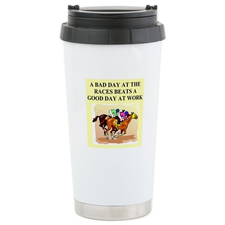 horse rcing gifts and t-shirt Stainless Steel Trav