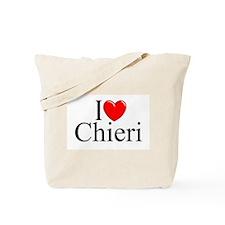 """I Love (Heart) Chieri"" Tote Bag"