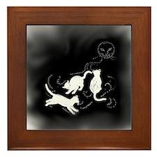 Cats Dancing in the Moonlight - Framed Tile