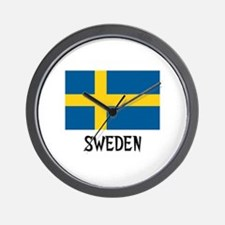 Sweden Flag Wall Clock