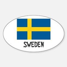 Sweden Flag Oval Decal